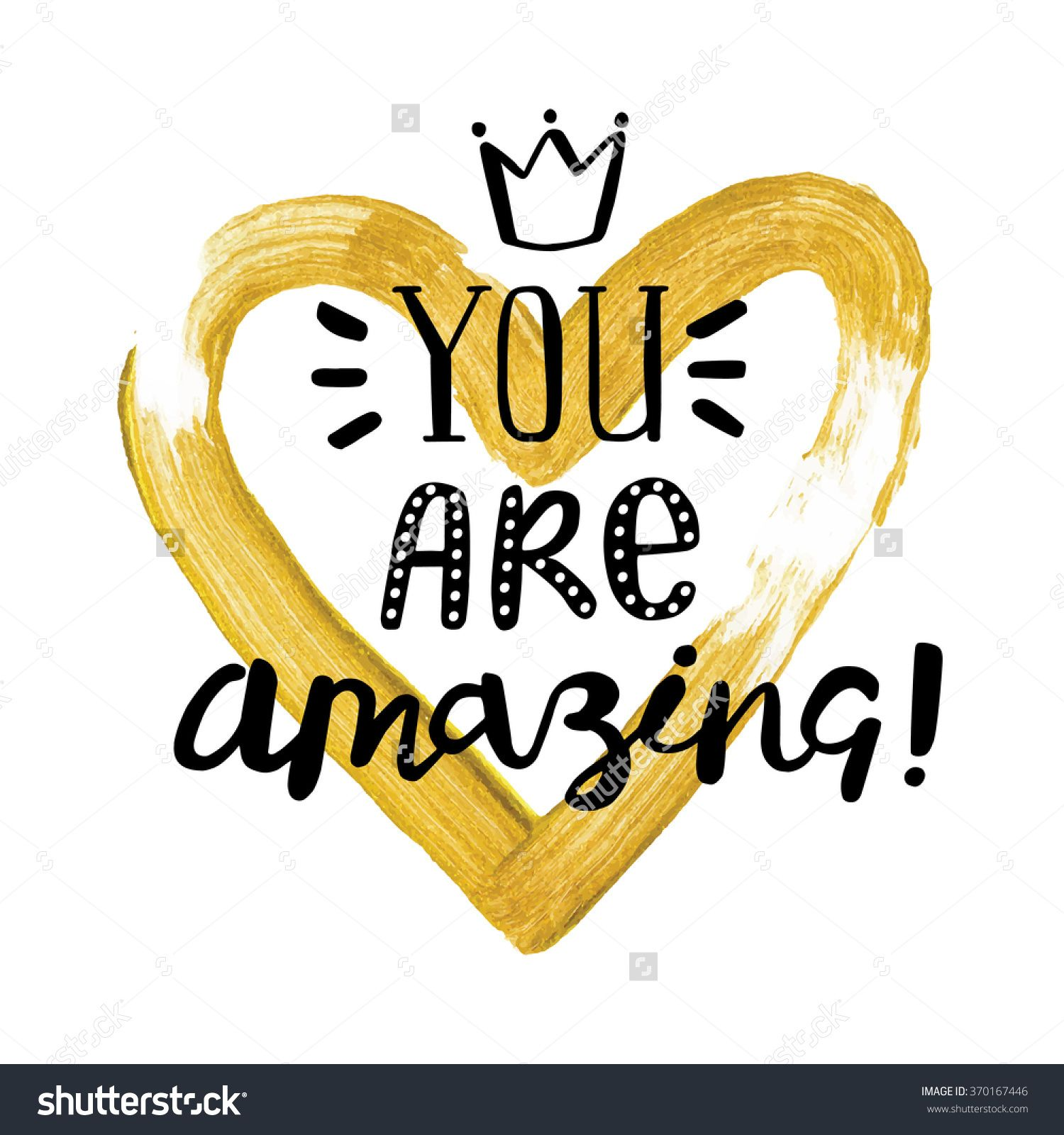 Handwritten You Are Amazing Valentine Day Card With