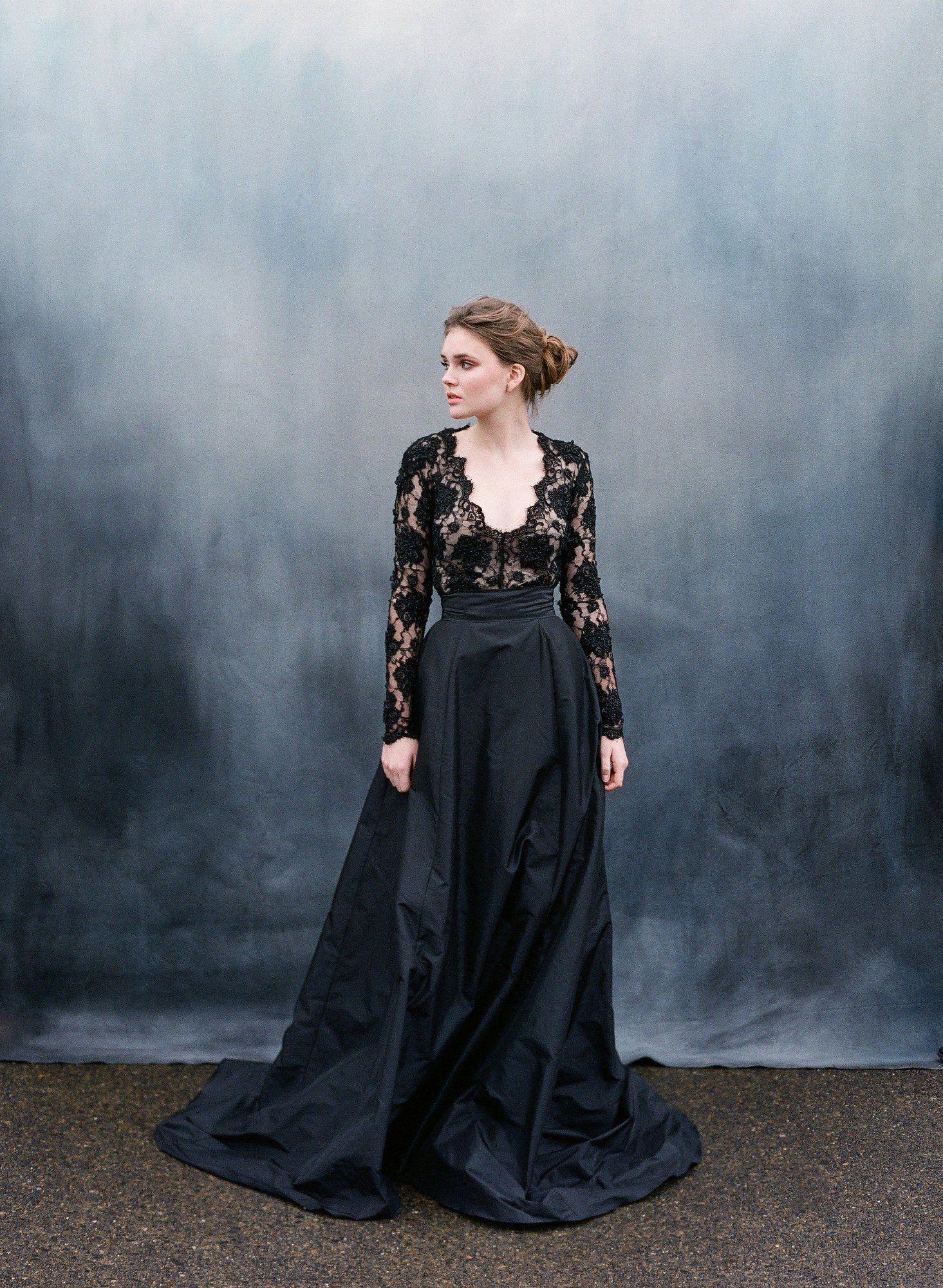 30 of the most stunning black wedding dresses black wedding 30 of the most stunning black wedding dresses junglespirit Choice Image