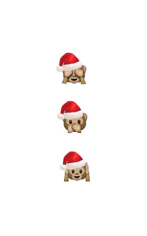 Monkey Emoji Wallpaper Iphone Christmas Cute Christmas Wallpaper Christmas Phone Wallpaper