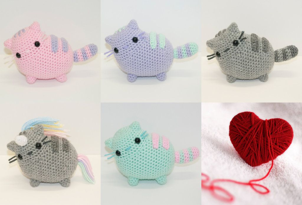 Pusheen inspired cats!Now available and READY TO SHIP. Use code ...