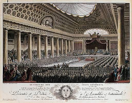 5 mai 1789 : ouverture des États généraux à l'hôtel des Menus Plaisirs à Versailles. Début de la Révolution française
