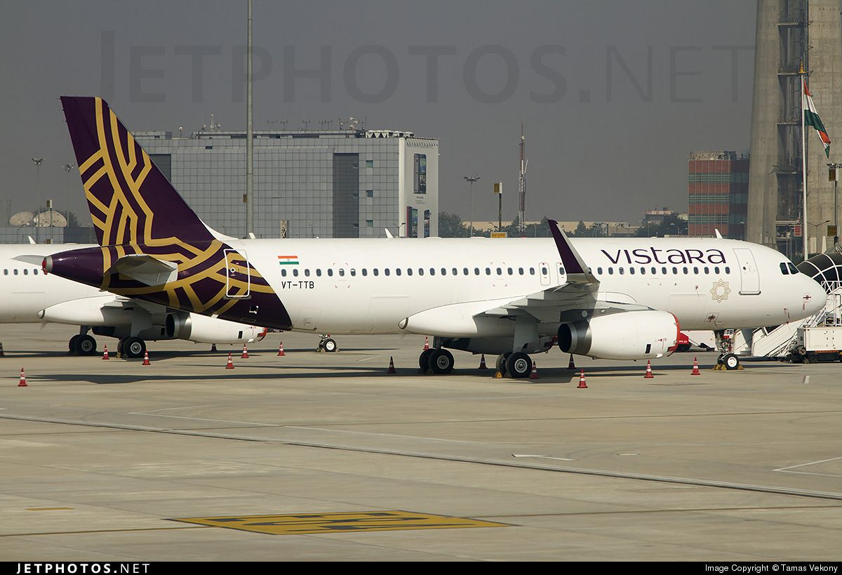First A320 in full colors for Vistara, a new Indian joint