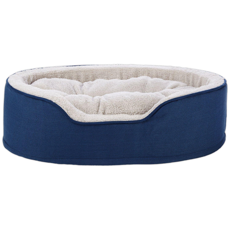 Harmony Cuddler Orthopedic Dog Bed In Blue 28 L X 20 W