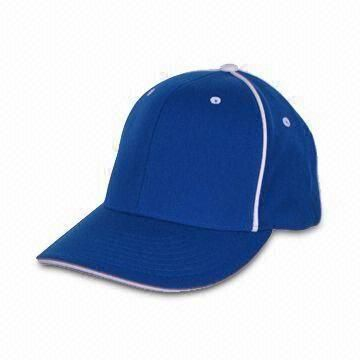 Blue Sports Cap, Made of 100% Cotton, Available in 56/57cm Size