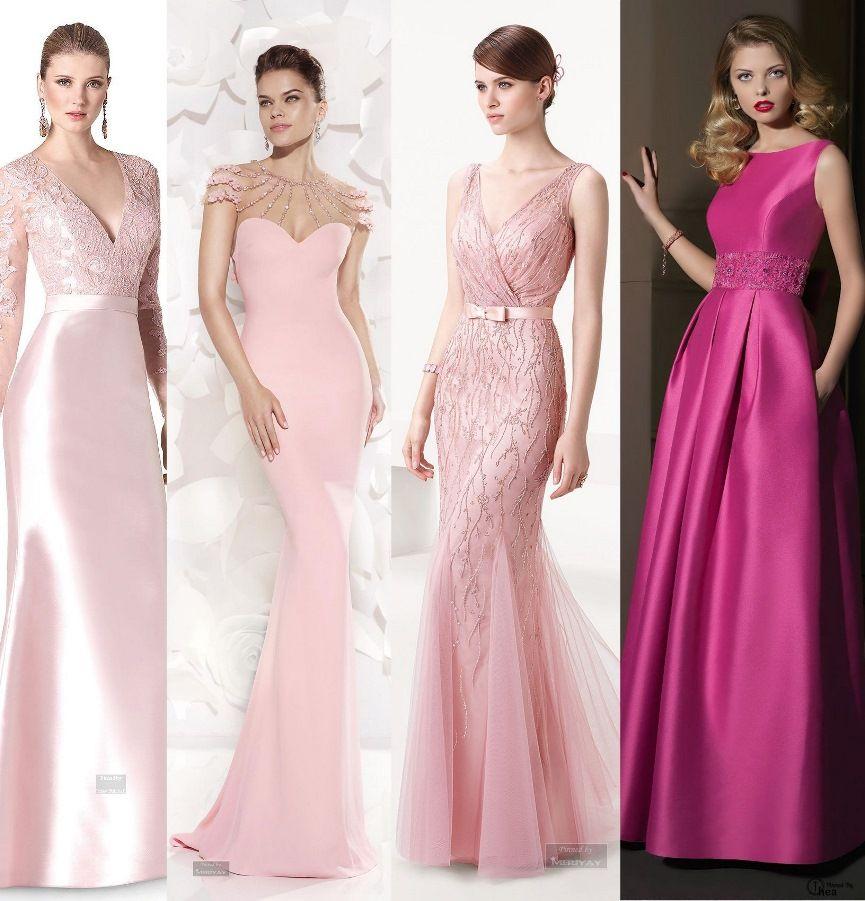 20 vestidos de festa cor de rosa | Vestiditos, Rosas y Vestido de baile