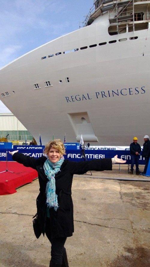 Regal Princess Cruise Ship Float Out Ceremony | Princess ...