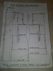 Cara Membuat Pola Batik : membuat, batik, Hasil, Gambar, Untuk, Kebaya, Modern, Pola,, Jahitan,, Menjahit