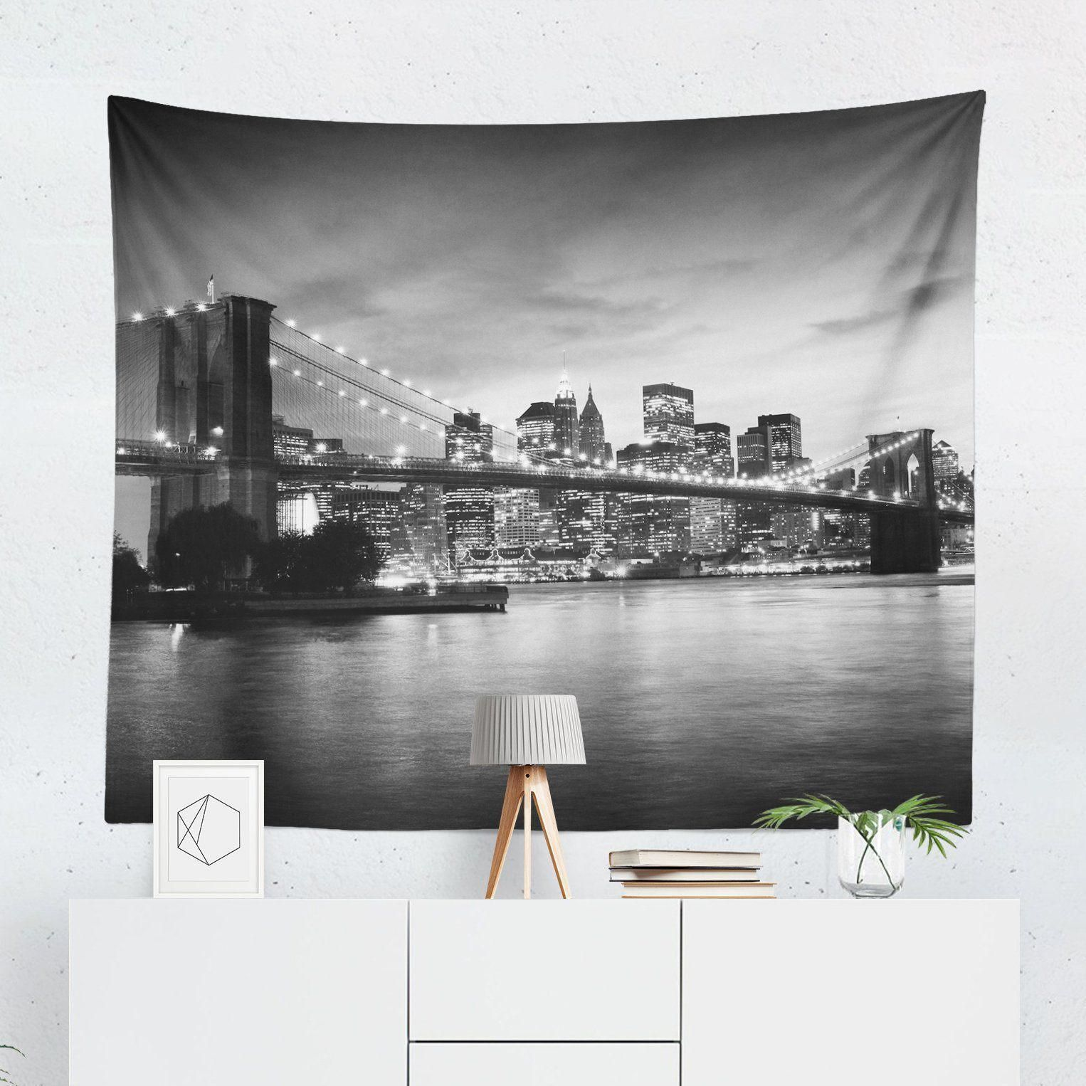 Skyline Wall Tapestry Wall Tapestry Window Coverings Tapestry