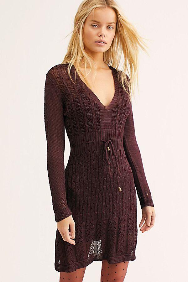 4cd6085d9822 Miranda Sweater Mini Dress - Brown Long Sleeve Knit Sweater Dress - Knit Sweater  Dresses - Brown Sweaters Dresses - Knit Dresses - Long Sleeve Sweater ...