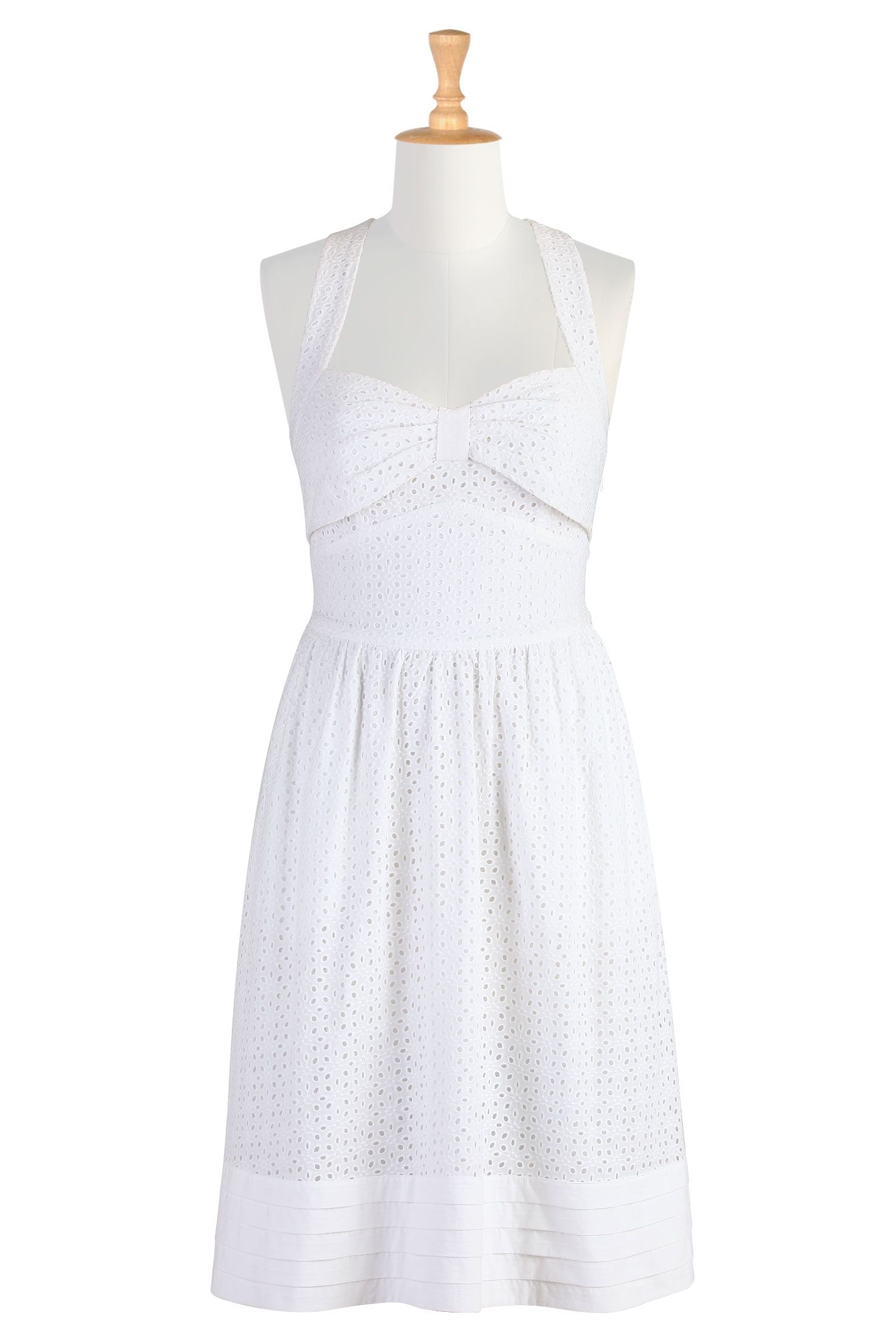 Summer white eyelet sundress white dress summer white sundress