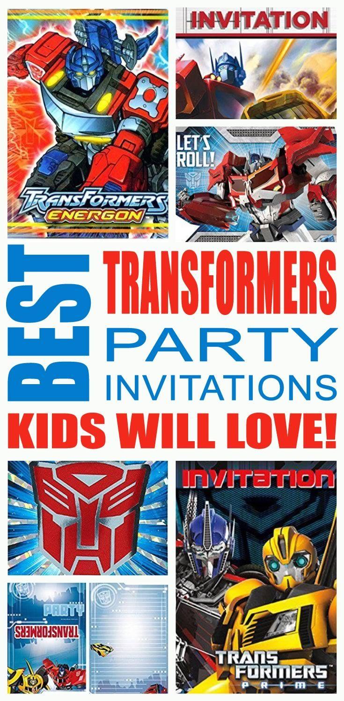 Best Transformers Party Invitations Kids Will Love | Transformer ...