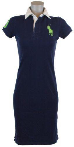 9f35509345c Ralph Lauren Sport Womens Big Pony Polo Shirt Dress  109.99 Preppy  Monogram