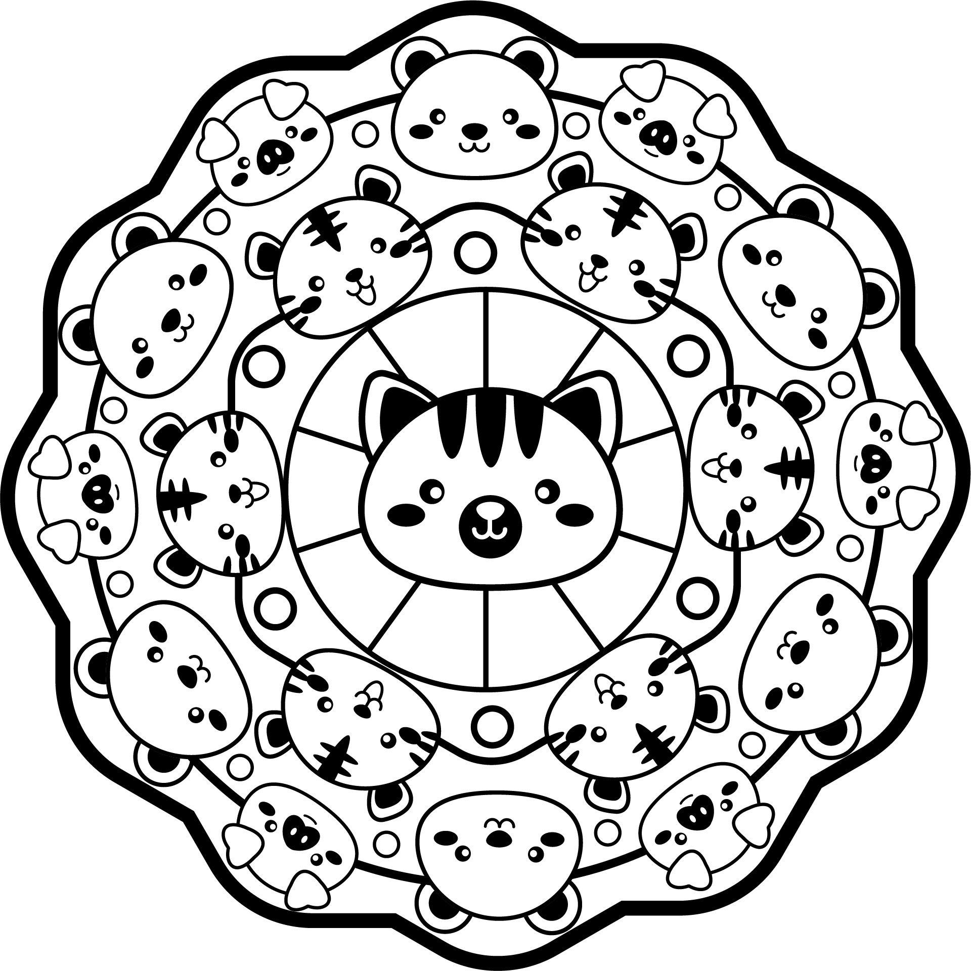 Mandala De Animales Del Zoo 1 En 2020 Con Imagenes Mandalas
