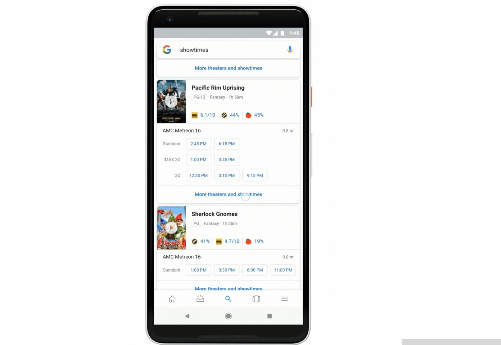 Google Search Streamlines Movie Search Results On Mobile Movie