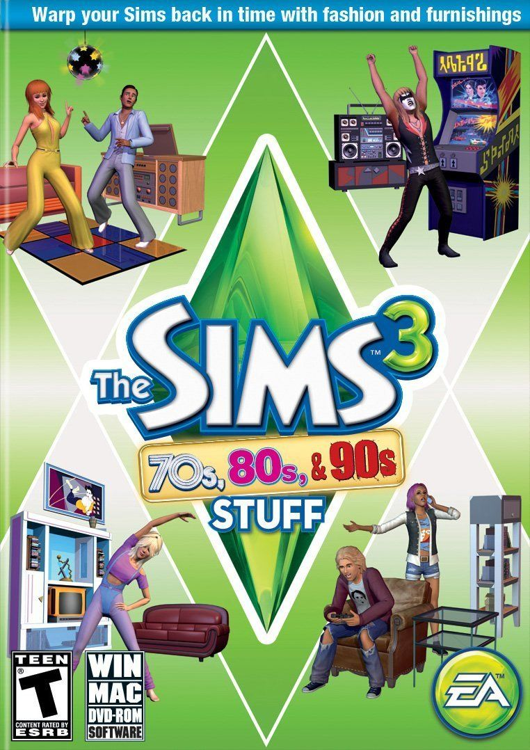 The Sims 3: 70's, 80's, and 90's Stuff Pack Windows PC/Mac Game