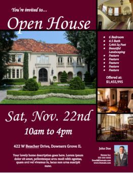 Great Realtor Open House Flyer Template Regard To Open House Flyer Template