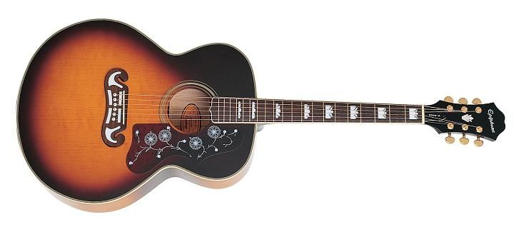 Epiphone ej200 sunburst guitar photos guitar gear