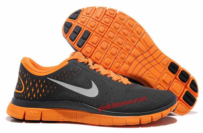 1ac93cb0394b Anthracite Reflective Silver Vivid Orange Nike Free 4.0 Women s Running  Shoes