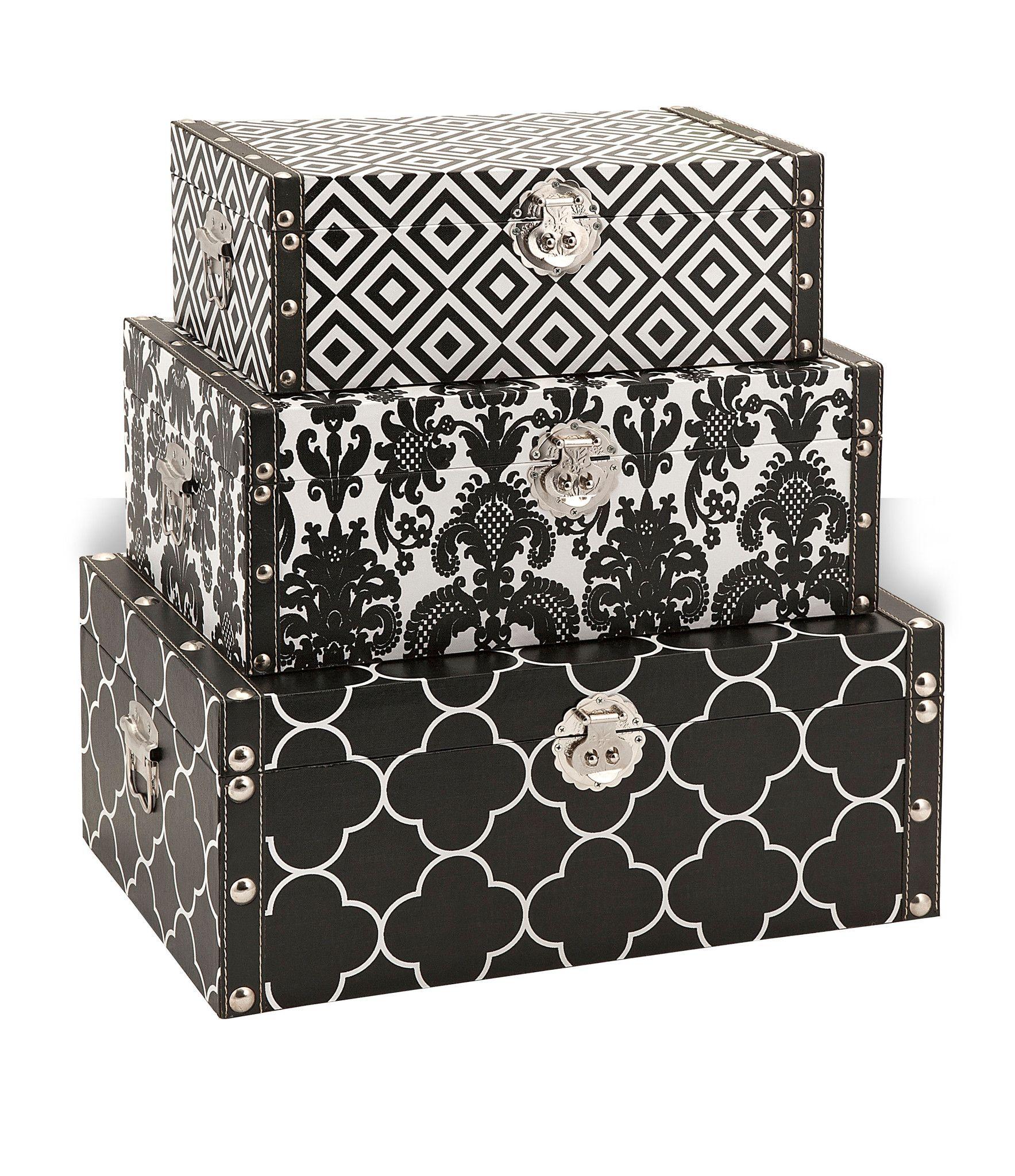 Essentials storage boxes black decorative storage boxes