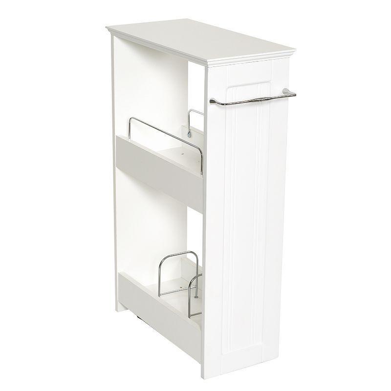 Zenith Slimline 2 Shelf Rolling Organizer, White