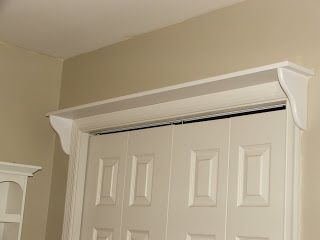 Shelf Above Closet Doors This Is Such A Good Idea For Holiday