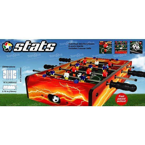 Stats 16 Inch Foosball Style Table Top Soccer Game By Toys R Us Foosball Foosball Tables Table Style