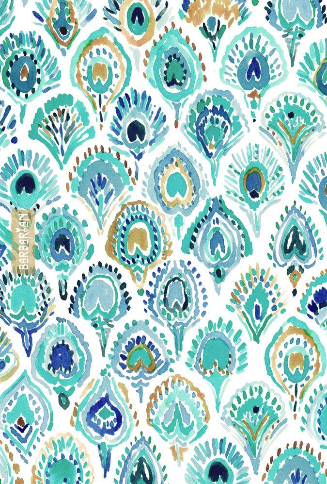 PEACOCK MERMAID // Aqua – BARBARIAN by Barbra Ignatiev | Bold colorful art