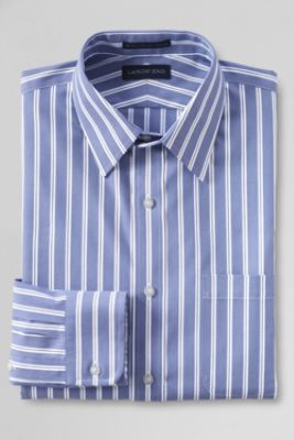 9d6029aa0fe Men s Tailored Fit Pattern No Iron Supima Pinpoint Straight Collar Dress  Shirt from Lands  End