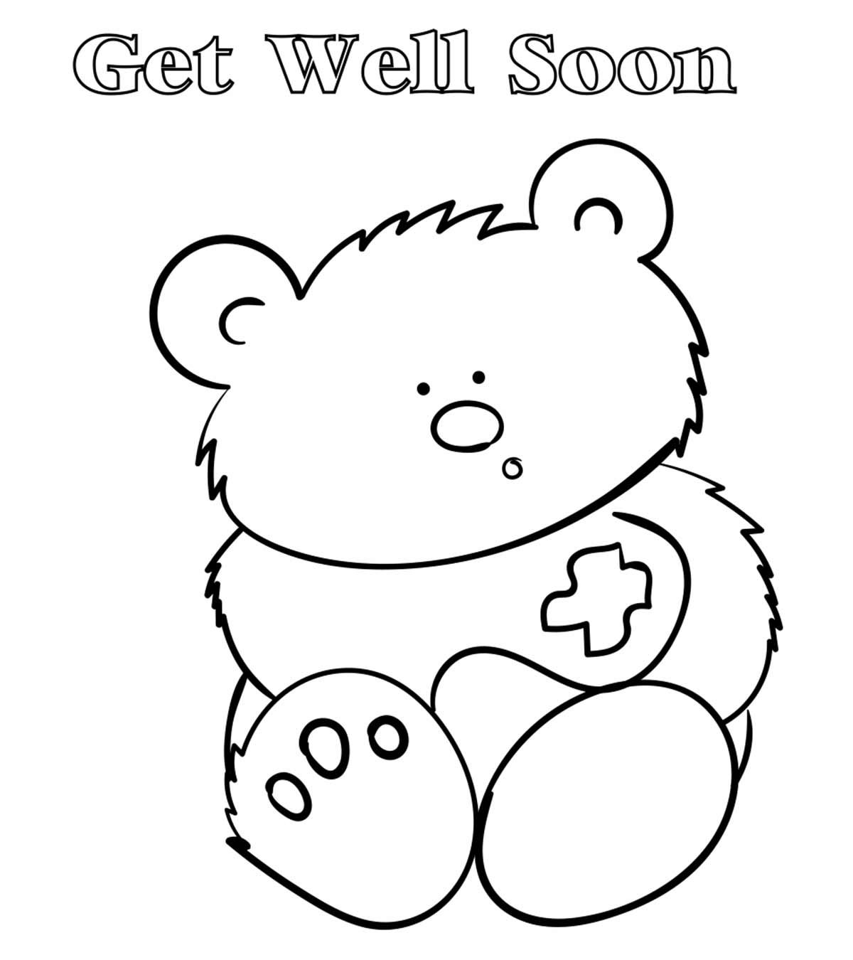 Top 25 Free Printable Get Well Soon Coloring Pages Online Regarding Get Well Soon Card Template Professional Templ Get Well Cards Disney Colors Card Template