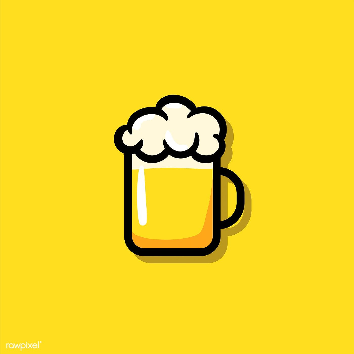 A Glass Of Beer Icon Illustration Free Image By Rawpixel Com Tvzsu Beer Icon Beer Logo Design Beer Drawing