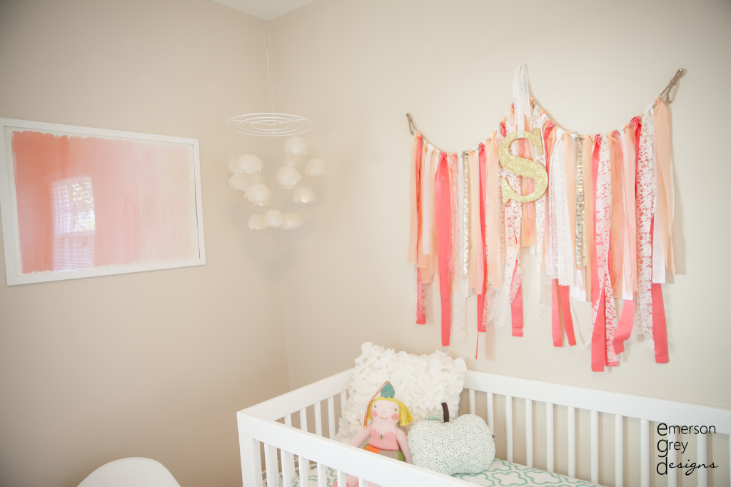 Sloane\'s Coral and Teal Nursery | Cuarto bebe, Bebe y Chicas