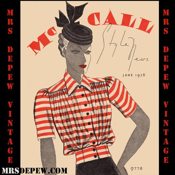 Vintage Pattern Catalog Booklet McCall Style News June 1938 PDF Digital Copy -INSTANT DOWNLOAD-