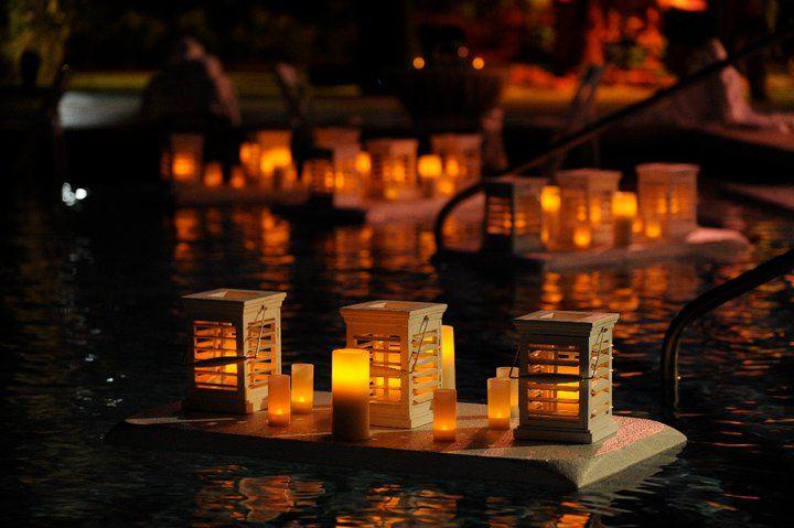 Floating Lanterns courtesy of Celebrations Ltd in Grand Cayman