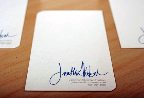 Verksamhet Signatur Kort Turnseven Minimalistisk Signatur