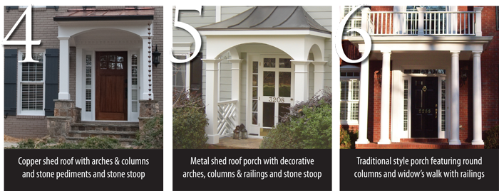 Over The Garden Walk: Copper Shed Roof Porch, Stone Stoop Porch, Traditional