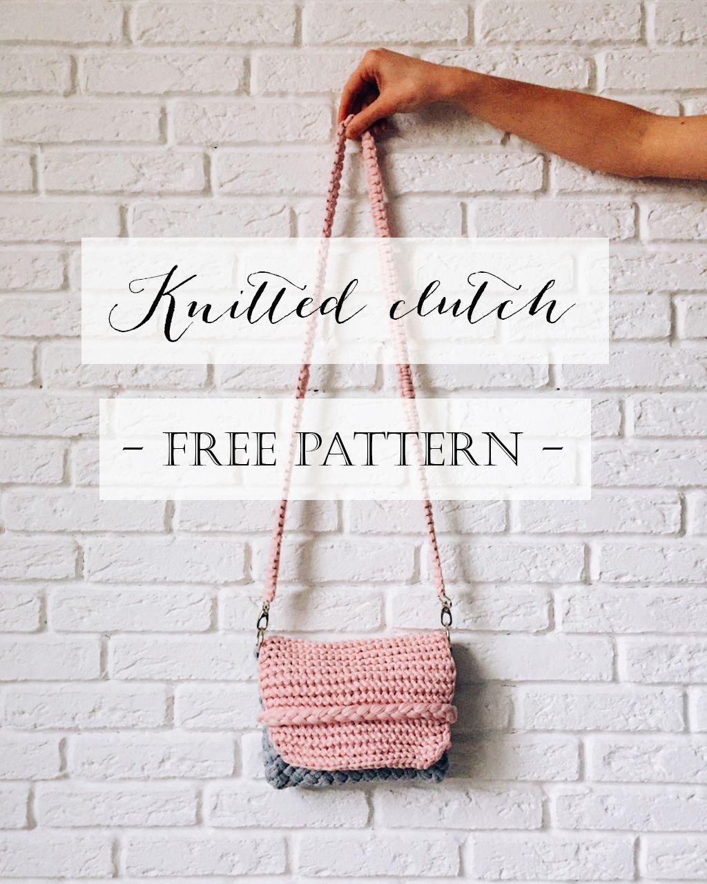 knitted clutch - free pattern | carteras infantiles | Pinterest ...