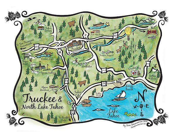 truckee map lake tahoe Truckee Tahoe Map Lake Tahoe Map North Lake Tahoe North Lake truckee map lake tahoe
