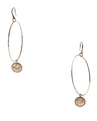 Michael Kors Hoop With Drop Earrings, Rose Golden // $85