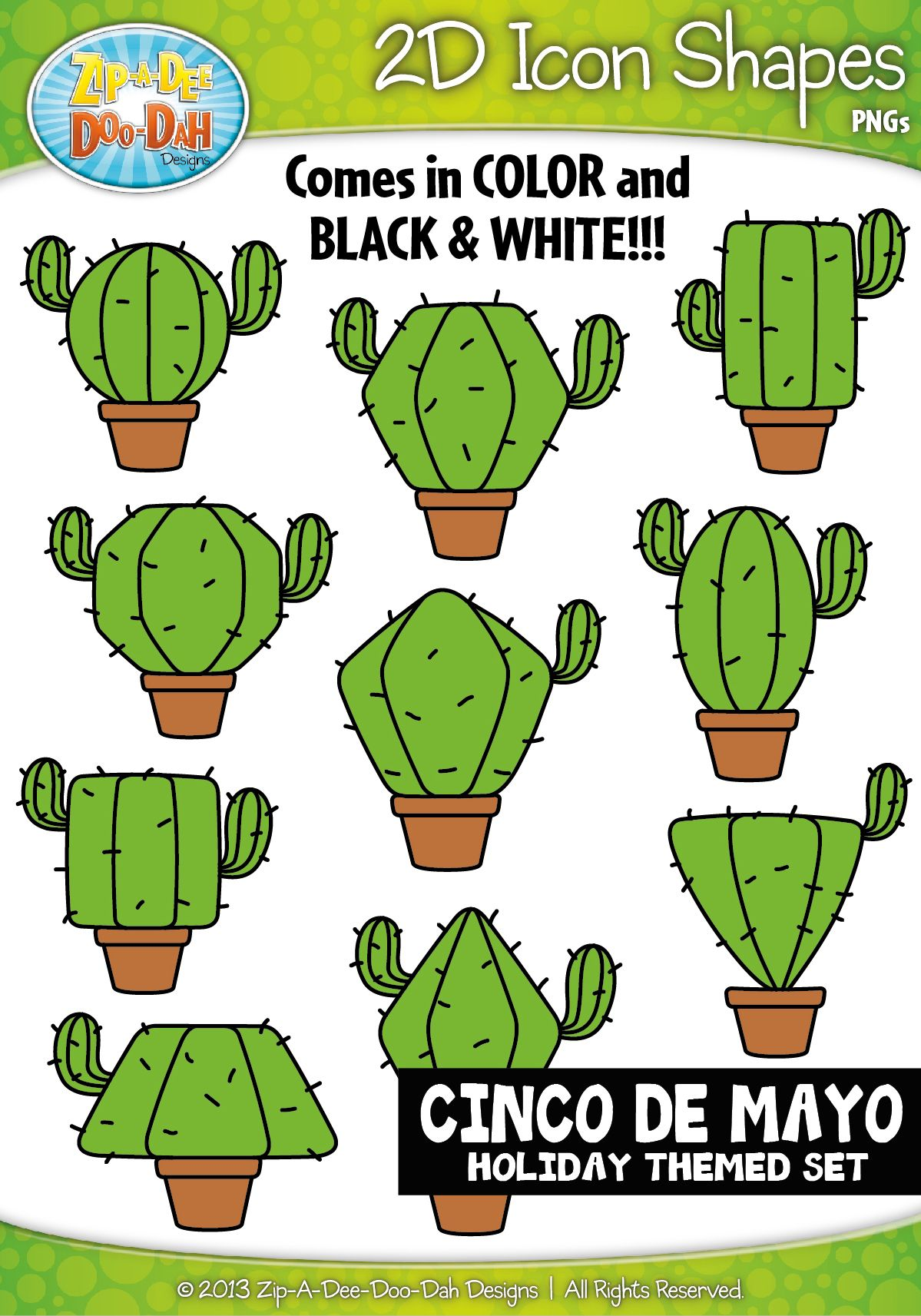 Cinco De Mayo 2d Icon Shapes Clipart Zip A Dee Doo Dah