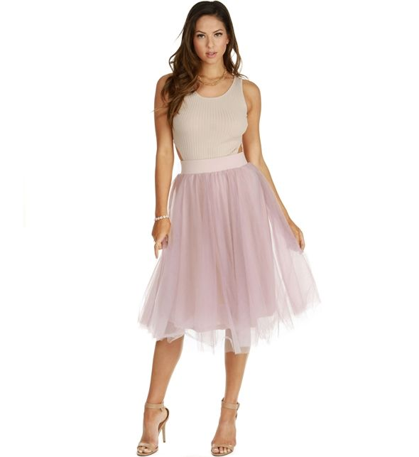 Promo-Mauve Tulle Darling Party Skirt