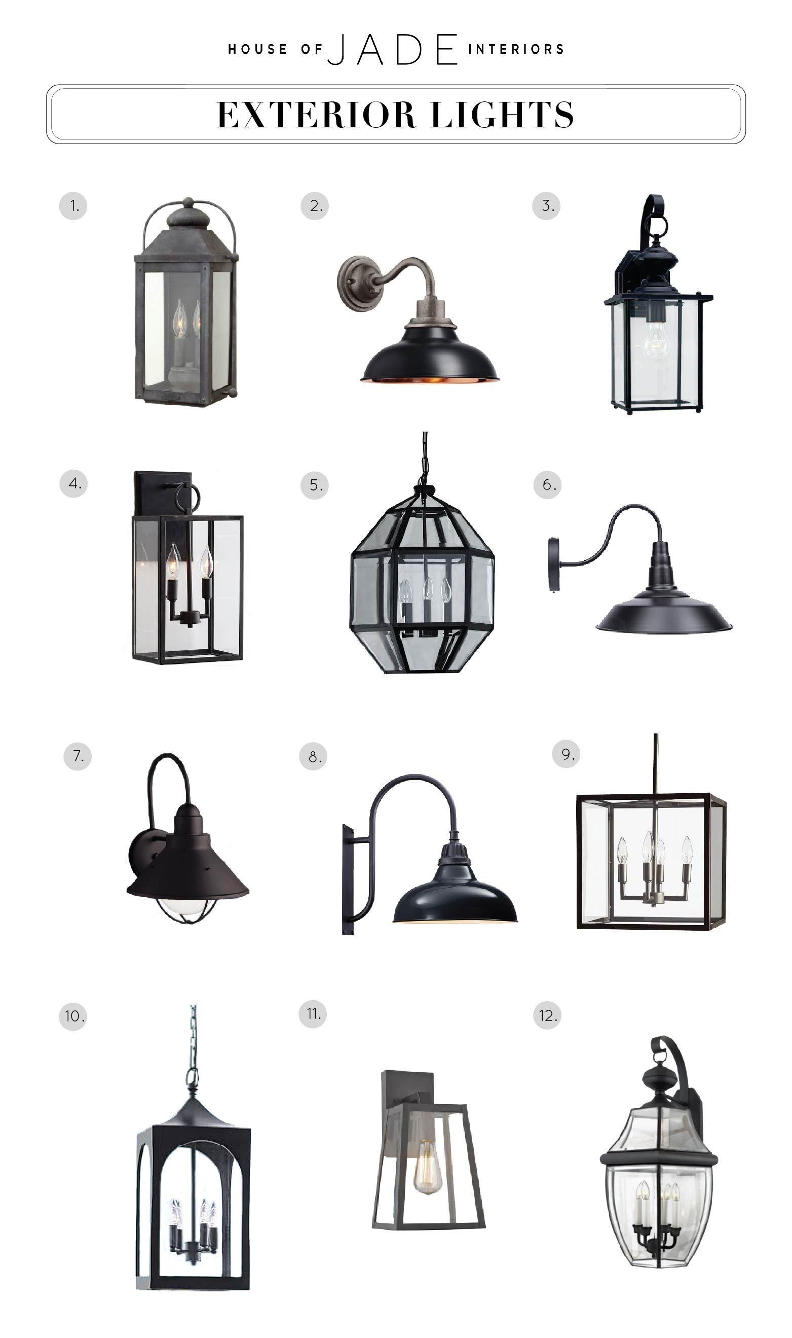 Design tip exterior lights house of jade interiors blog