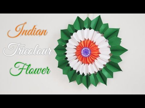 DIY Tricolour Paper Flower Making for Independence DayRepublic Day Indian Tric DIY Tricolour Paper Flower Making for Independence DayRepublic Day Indian Tric