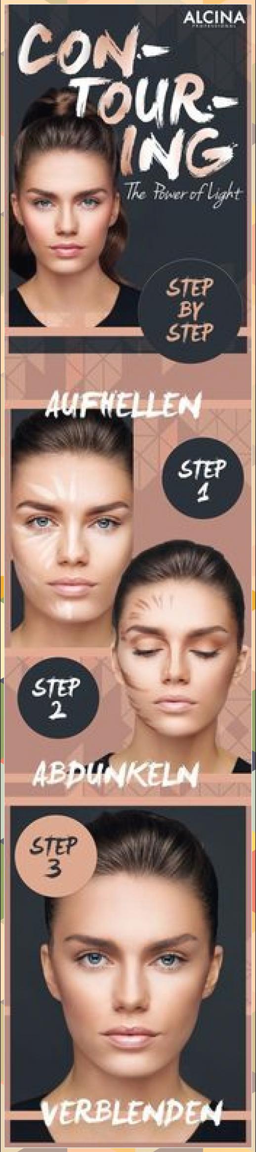Contouring Guide: So konturierst du dein Gesicht schnell und einfach als Tages-M... #als #Augen-Make-up #Augenbrauen #contouring #Dein #einfach #Eyeliner #Gel-eyeliner #gesicht #guide #konturierst #Lidfalte betonen #Lidschatten #Linda Hallberg #Lippenstiftfarben #Make-up Looks #Pinker Lippenstift #schnell #tages #TagesM #und #Wimpern