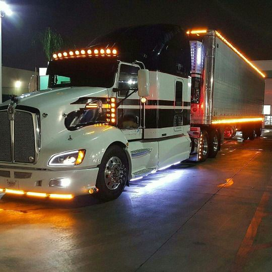 Kenworth T660 With Matchin Reefer Light Show Camiones Pinterest