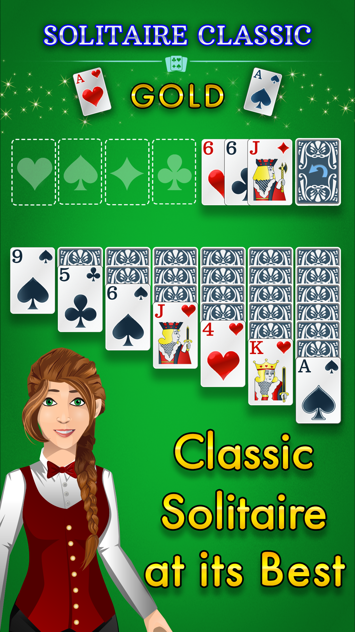 Enjoy the Classic Solitaire Game! Take a moment of