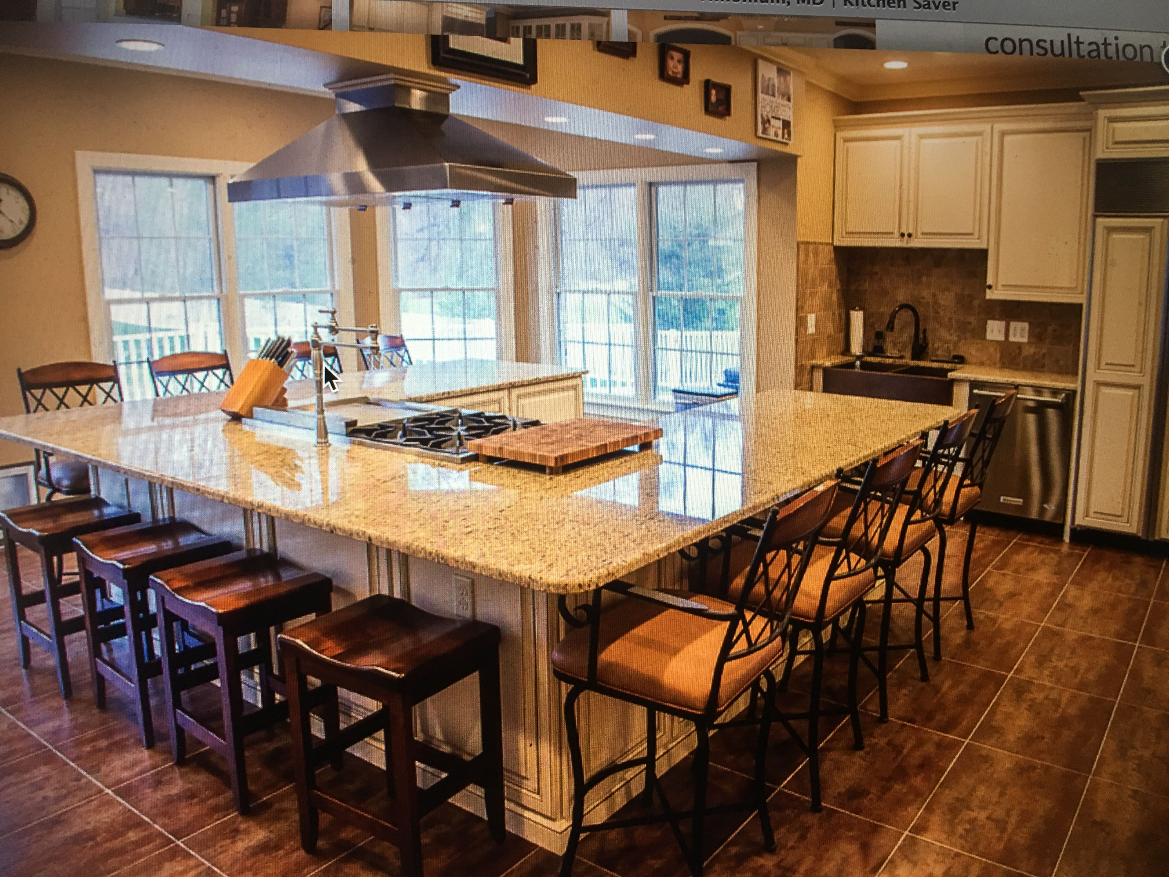 Pin by 22 on 22 large kitchen layouts kitchen island - Kitchen island with cooktop and seating ...