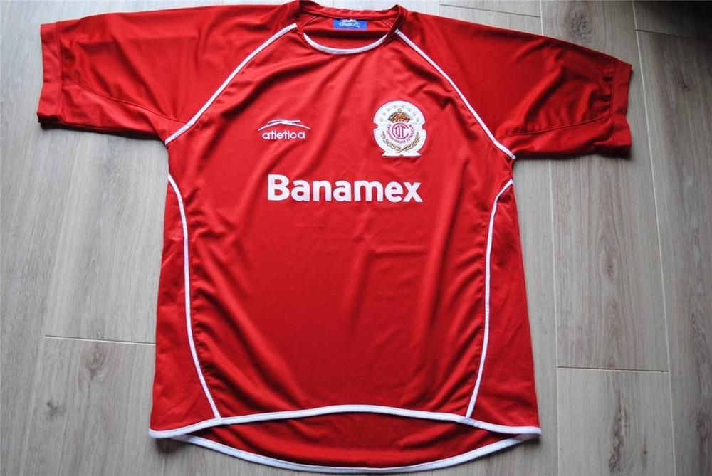 best sneakers 77e24 d18f8 Atletica Deportivo Toluca 2005-2006 Home football Shirt ...