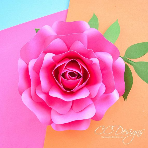 Diy Instant Download Paper Rose Flower Templates Small Paper Rose