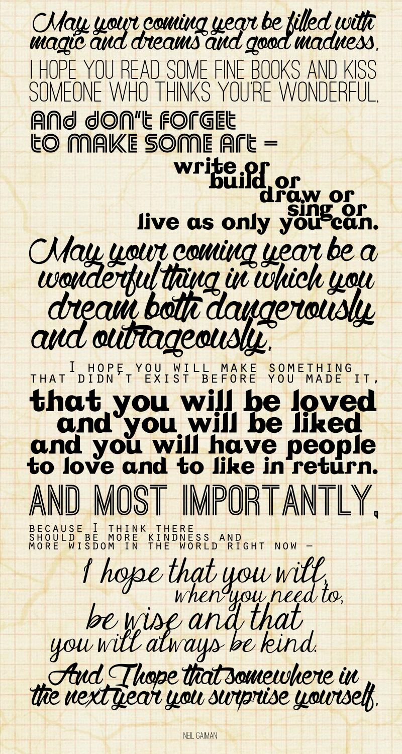 new-years-wishes.png (800×1500) | Inspiration | Pinterest | Neil gaiman