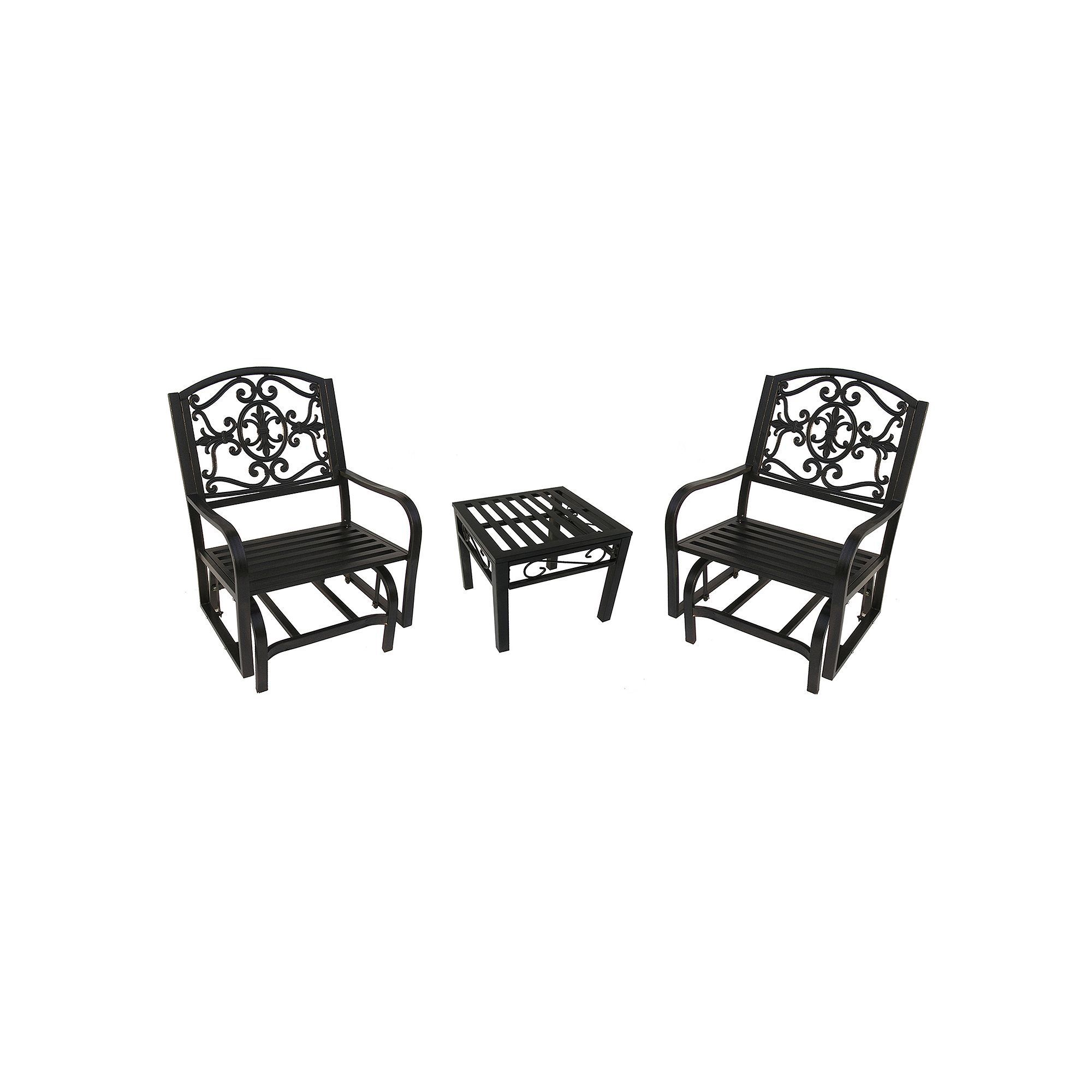 Outdoor Lakeville Patio Glider Chair 3 piece Set